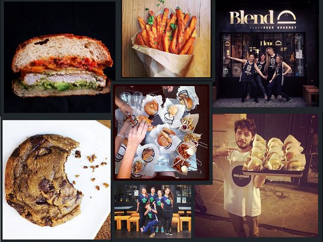 restaurant de hamburger blend utililse instagram