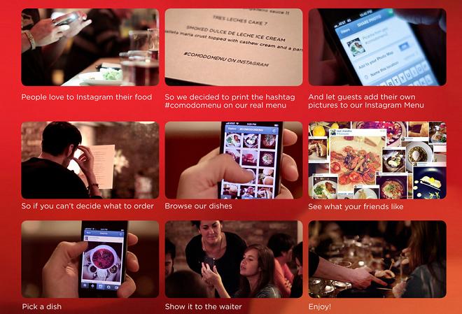 restaurant el comodo utilise instagram pour créer son menu