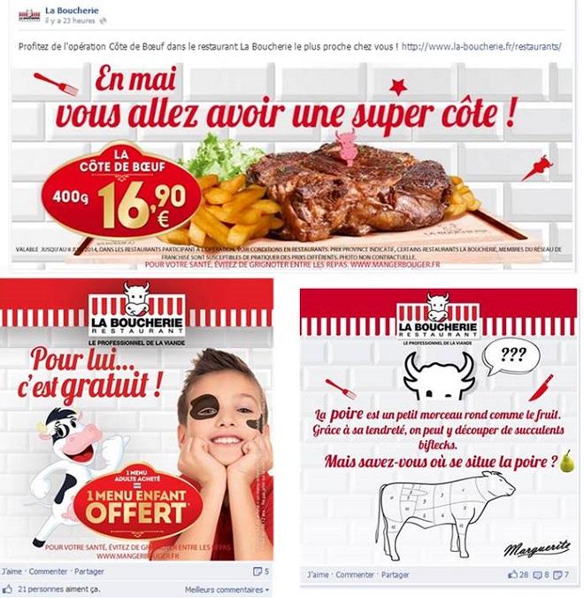 Les valeurs des restaurants La Boucherie