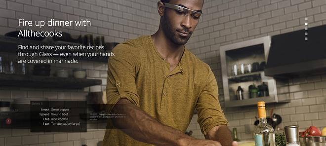 Application culinaire pour Google Glasses