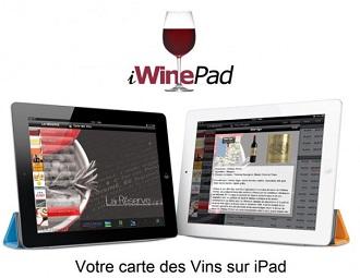 Carte des vins des restaurants sur un iPad
