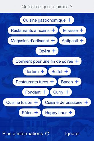 Utiliser Foursquare
