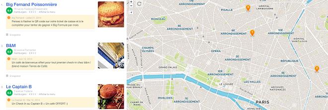 Bons plans Foursquare