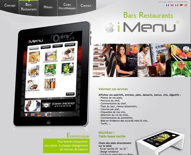 iMenu pour les restaurants
