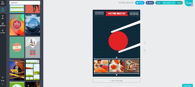Créer des visuels en ligne