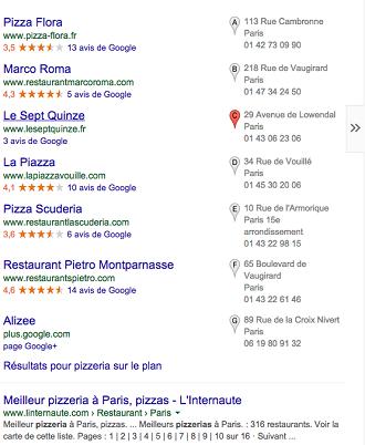Géolocalisation pour les restaurants