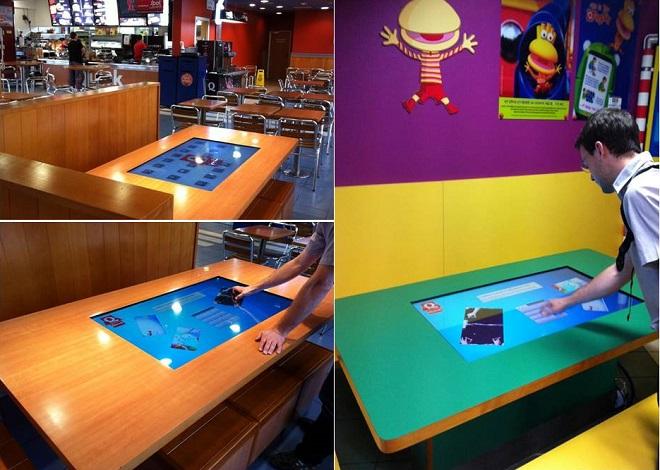 Table interactive au restaurant