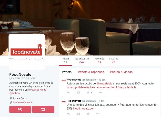 Twitter pour les restaurants
