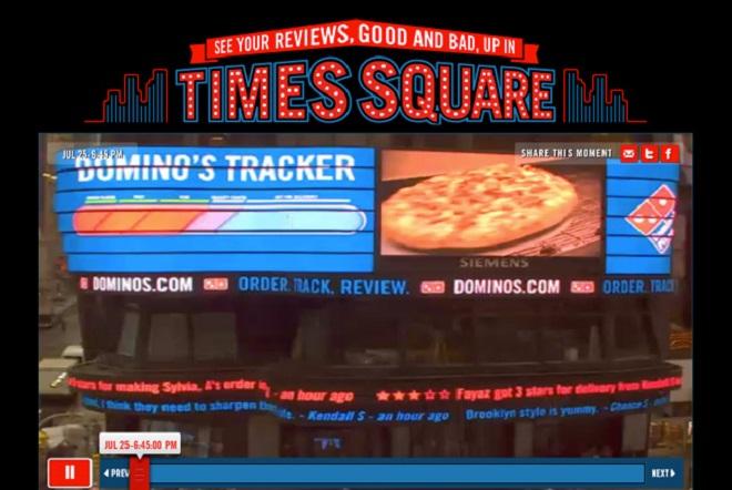Campagne publicitaire domino's pizza