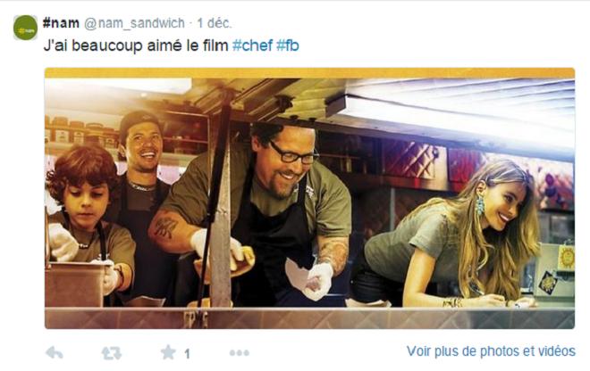 Film Chef sur Twitter
