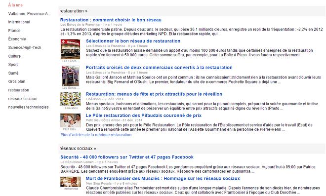 Veille sur Google News