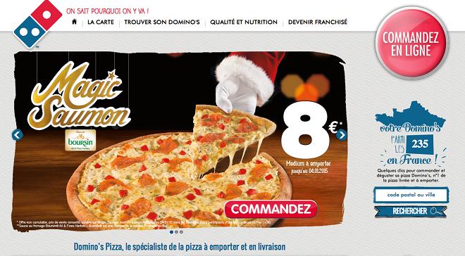 Commande en ligne Dominos Pizza