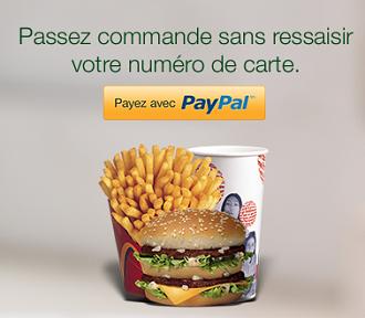 Commande en ligne McDonalds