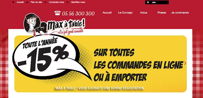 Commande en ligne Max à Table