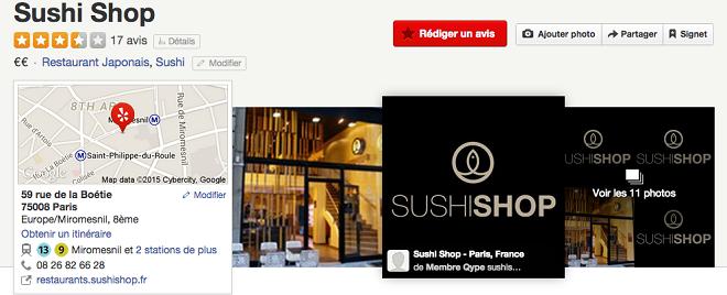 Yelp pour les restaurants