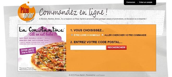 Commande en ligne Pizza sprint