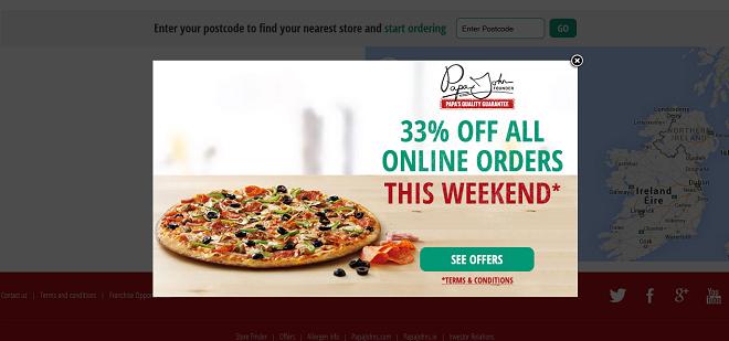 Online ordering for restaurant