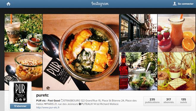 Instagram pour les restaurants