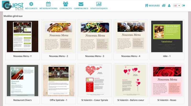 Créer une newsletter pour restaurant