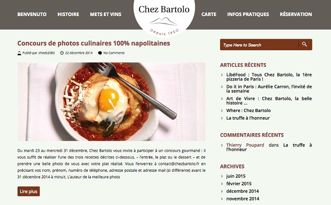 Blog de restaurant