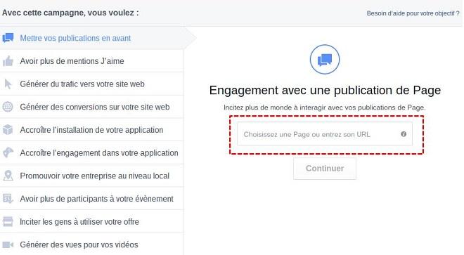 créer une pub facebook