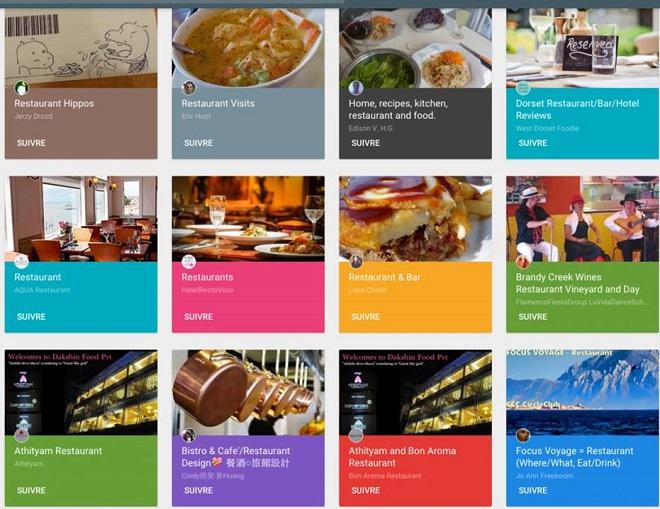 Google Plus pour restaurant