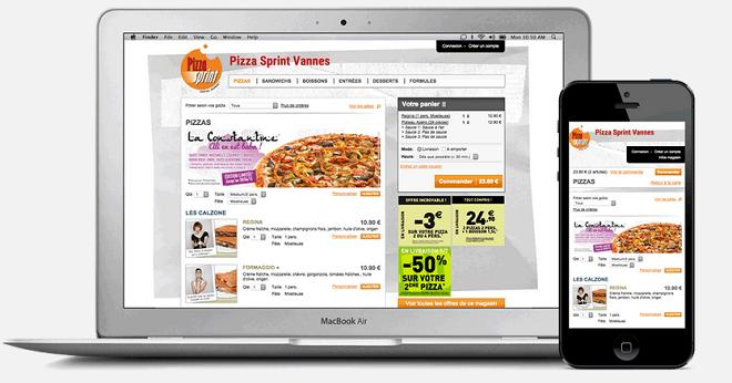 site de commande en ligne pizzeria
