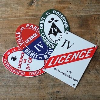 Affichage licence restaurant