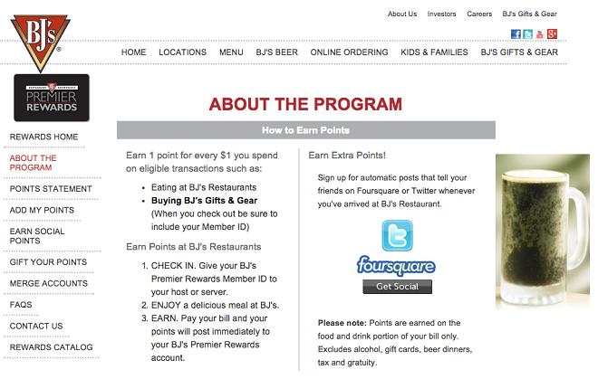 Programme de fidélité en ligne