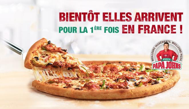 Papa John's à la conquête du marché français de la pizza