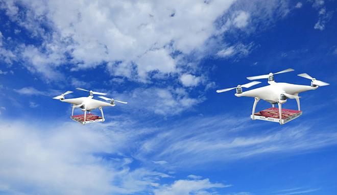 drone-livraison-pizza