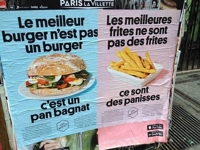 Campagne d'affichage restaurant Les Niçois