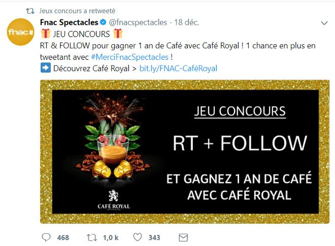 Jeu concours Twitter La Fnac