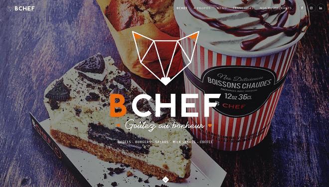 Univers graphique restaurant BCHEF