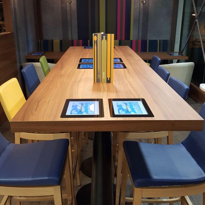 Le Restaurant L Agora Utilise Des Tables Tactiles Depuis Un An