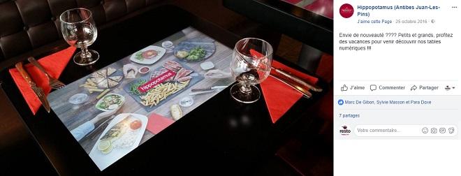 Tables connectées au restaurant