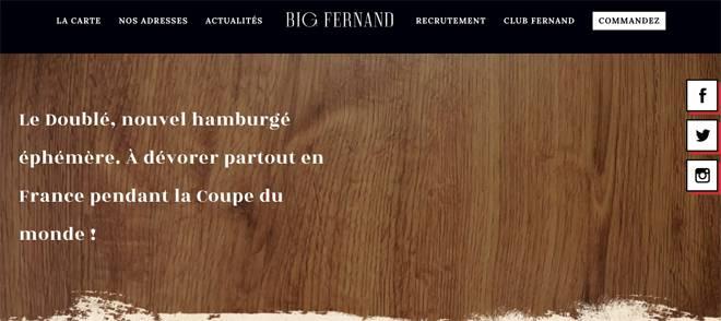 Burger éphémère Big Fernand