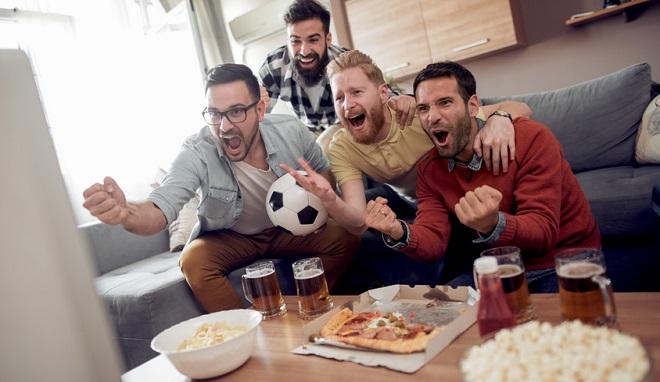Vente de pizzas pendant la coupe du monde de football