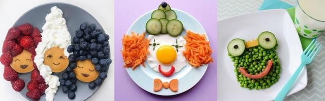 dresser une assiette pour les enfants
