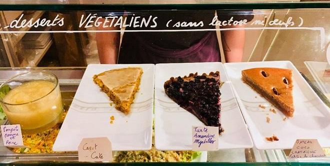 desserts vegans au restaurant