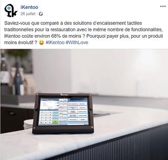 caisse tactile pour les restaurants ikentoo