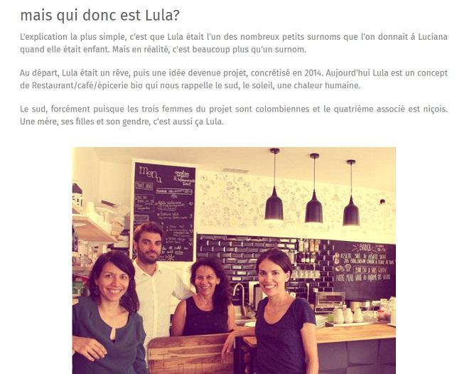 photo équipe lula lifestyle restaurant