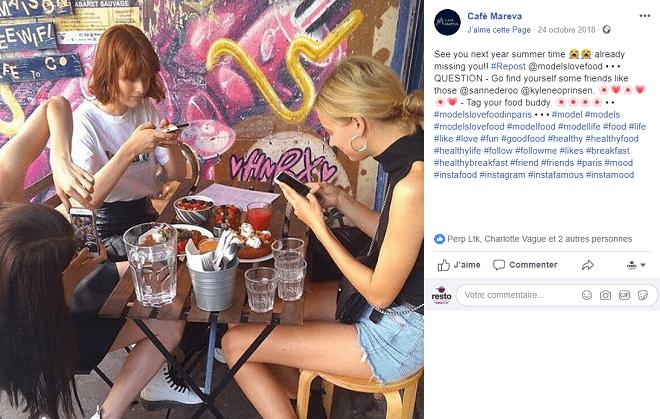 repost instagram restaurant