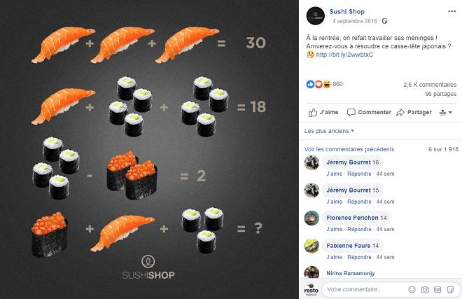 communication sushi shop